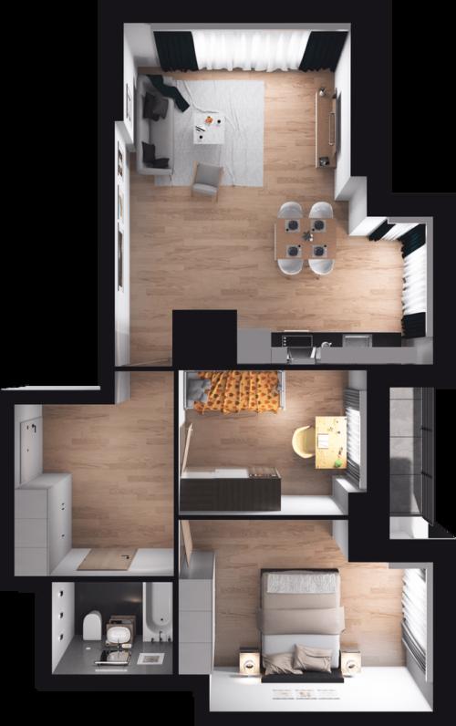 Idealne dla rodziny, wystawa salonu strona zachodnia, z dużym przestronnym oknem, wyższe kondygnacje z panoramą widokową na Wolę, klimatyzacja