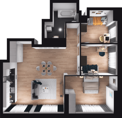 Lokal mieszkalny - 4 pokoje z kuchnią