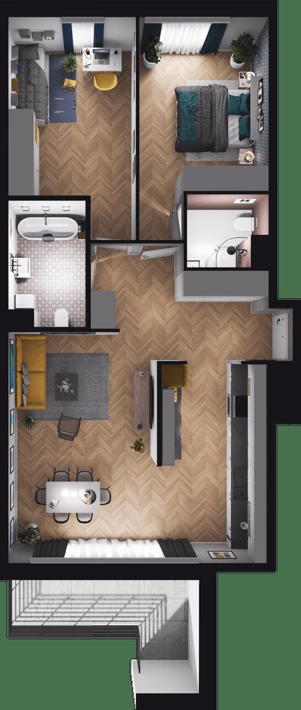 Lokal mieszkalny - 3 pokoje z kuchni
